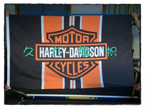90*150CM Harley-Davidson motorcycle race flag decorative quality polyester free shipping - Animetee