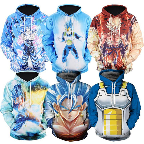 Dragon ball Dragonball capsule Naruto  Z Hoodies 3D Print Pullover Sportswear Sweatshirt  Super Saiyan Son Goku Vegeta Vegetto Outfit Tops AT_85_9