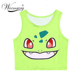 2016 Hot sale pokemon T-Shirts 3D Print women tank tops & camis sleeveless vest girls summer short bustier crop tops TS-079 - Animetee - 1