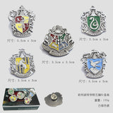 5pcs/set Harry Potter Metal Brooch Cosplay Badge Ravenclaw Hogwarts Slytherin Hufflepuff 2 Colors hwd - Animetee - 2