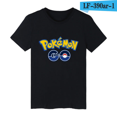 Game Pokemon Go Charmander Short Sleeve T-shirts with Mens TShirts Summer Brand and Anime Pokemongo Cotton White T Shirt Men Tee - Animetee - 2