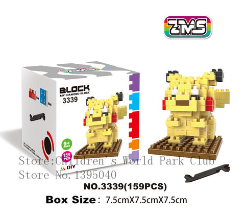 1PC Pokemon Figures Model Toys Pikachu Charmander Bulbasaur carte pokemon Child pokemon figures Anime Building Blocks - Animetee - 5