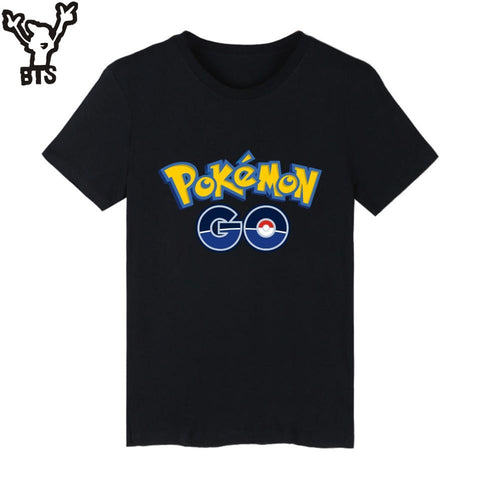 BTS  Go Cotton T-shirt Boys Brand Short Sleeve T Shirts and go Mens TShirts in Pocket Monster Tee ShirtsKawaii Pokemon go  AT_89_9