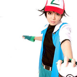 2016 Hot Pokemon Go High Quality Blue Ash Ketchum Trainer Poke Ball Cosplay Costume Jacket Gloves Hat Ash Ketchum Costume - Animetee - 2