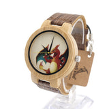 Bobobird E8 Mens Montopia Pokemon Colorful Faces Design Brand Luxury Wooden Bamboo Watches With Real Leather Bands in Gift Box - Animetee - 3