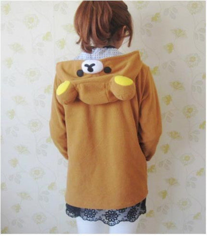 Lovely Animal relaxed  bear Hoodie Pokemon Animal hoody Sweatshirt Cosplay Party - Animetee