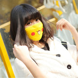1pc Pokemon Pikachu Cute Face Masks Anti-Dust New Anime Pocket Monster Cosplay Props - Animetee - 1