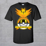 Pokeball Nerd Team Running T Shirts Pokemon Go Mystic Crewneck T Shirt Valor Short Sleeve Shirts Team Instinct Black Tee Tops - Animetee - 1