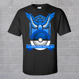 Pokeball Nerd Team Running T Shirts Pokemon Go Mystic Crewneck T Shirt Valor Short Sleeve Shirts Team Instinct Black Tee Tops - Animetee - 3