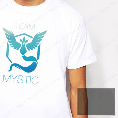 Team Valor Team Mystic Team Instinct White T Shirt Pokemon Go Team Running T Shirts Summer Leisure Men's Shirts Short Sleeve Tee - Animetee - 3