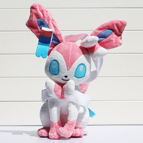 1Pcs 30cm Pokemon Eevee Plush Sylveon Plush Toys Stuffed Soft Dolls Great Gifts - Animetee