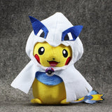 "2Styles Kawaii Pokemon XY Pikachu Cosplay Mega Lugia Ho-Oh Cotton Stuffed Plush Toys Dolls Collectible Gifts for Kids 4"" 20cm - Animetee - 2"