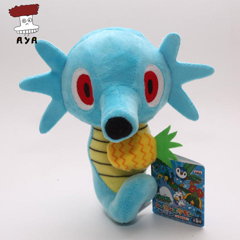 "Anime Cartoon Pokemon Plush Toys 5.5"" 14cm Horsea Kawaii Soft Stuffed Plush Doll Kids Toys Christmas Gift For Children - Animetee"