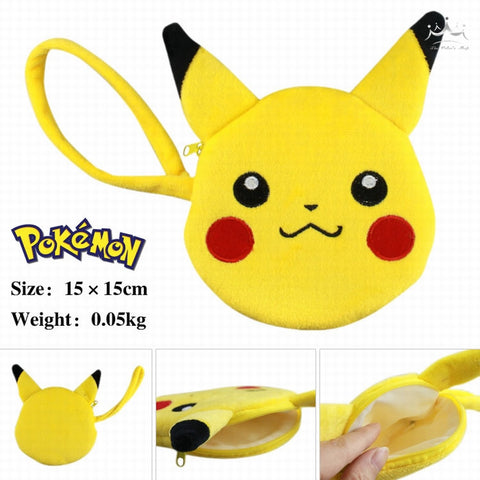 2016 Cartoon POKEMON Pikachu same anime style kawai coin & key purse - Animetee