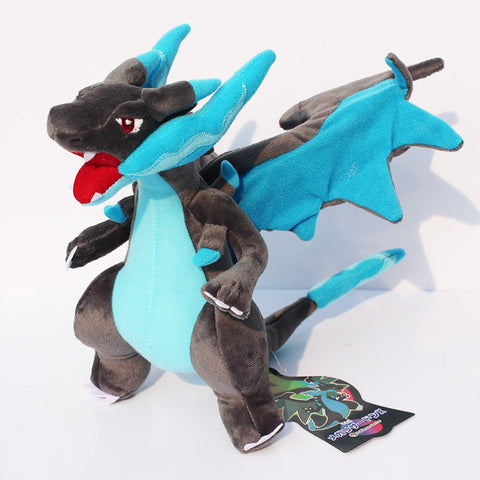 "New Pokemon XY Charizard Plush Toy Blue Color Mega Charizard Plush Doll Toys With Tag 10""25cm Retail Free Shipping - Animetee"