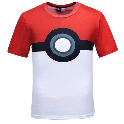 2016 new fashion brand clothing women/men t shirt 3d anime Pokemon print tshirt casual tshirt tops homme camisetas ropa mujer - Animetee - 2