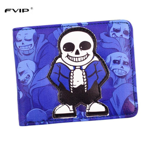 Undertale Sans Papyrus FVIP Anime Cartoon Five Nights At Freddy's Wallet  Purse With Coin Pocket ID Card Holder   AT_82_8
