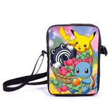 Anime Pokemon Pikacun Mario Dragon Ball Mini Messenger Bag Girls Boys School Bags Kids Book Bag Shoulder Bags For Snacks Lunch - Animetee - 19