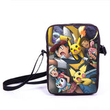 Anime Pokemon Pikacun Mario Dragon Ball Mini Messenger Bag Girls Boys School Bags Kids Book Bag Shoulder Bags For Snacks Lunch - Animetee - 11