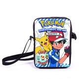 Anime Pokemon Pikacun Mario Dragon Ball Mini Messenger Bag Girls Boys School Bags Kids Book Bag Shoulder Bags For Snacks Lunch - Animetee - 5