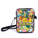 Anime Pokemon Pikacun Mario Dragon Ball Mini Messenger Bag Girls Boys School Bags Kids Book Bag Shoulder Bags For Snacks Lunch - Animetee - 14