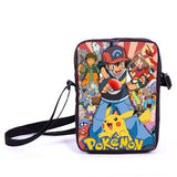 Anime Pokemon Pikacun Mario Dragon Ball Mini Messenger Bag Girls Boys School Bags Kids Book Bag Shoulder Bags For Snacks Lunch - Animetee - 15