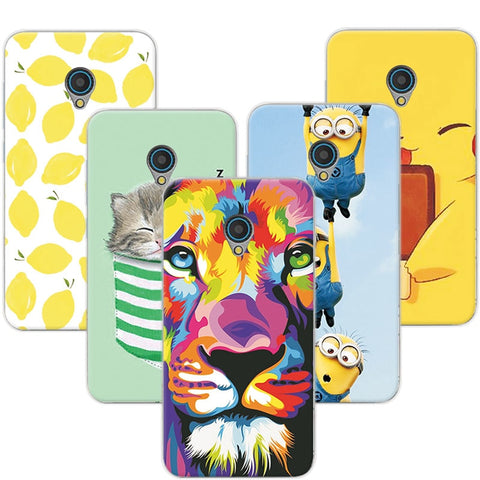 Fruit Hot Selling Fashion Cat Minion Soft Silicone Phone Cases For Alcatel  U5 4G 5044D 5044Y Case Cover For Alcatel U5 5044 Gift