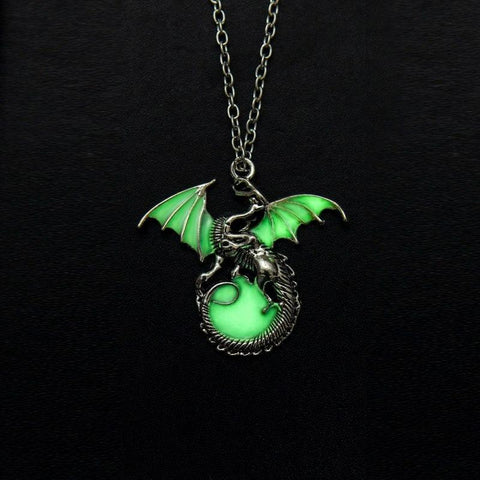 Winter Game of Thrones GOT    dragon Punk Luminous Dragon Pendants & Necklaces GLOW in the DARK dragon amulet Sweater Chain Gift ancient N2438 AT_77_7