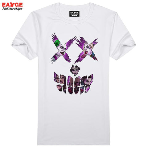 Guys In Suicide Squad Skull T Shirt Pop Comic Movie Character T-shirt Cool Novelty Funny Tshirt Style Unisex Printed Fashion Tee - Animetee - 2
