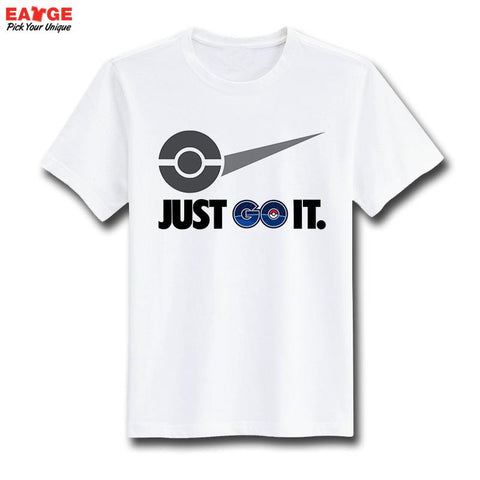 Just Go It T Shirt Pokemon Parody Famous Logo Funny Design T-shirt Unisex Printed Top Tee Cool Fashion Novelty Style Tshirt - Animetee - 2