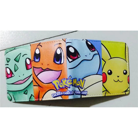 Anime Wallet Pokemon Money Bag Eevee Family Pocket Monster Cartoon PU Purse Pokemon Go Pikachu Animal Doll Figure Toy Gift - Animetee - 10