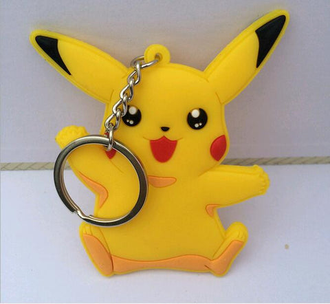 3PCS New 2016 anime Pokemon kids toy Pikachu Catoon  Action Figures Model building toys Pendant Chaveiro Key Ring gift - Animetee - 4