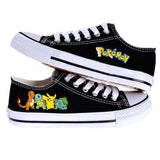 Pokemon Canvas Shoes Pikachu Bulbasaur Charmander Squirtle 2016 New Fashion Unisex Low Casual Shoes for Men and Women Christmas - Animetee - 1