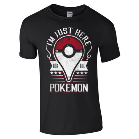 (Harajuku T Shirt) pokemon go Men Sports Casual T Shirt Pokemon Tees Men's T-shirts Cotton Tops Clothing Camisetas us size S-XXL - Animetee - 3