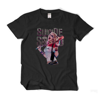 Movie Batman Suicide Squad Harley Quinn T-Shirt Cosplay Costume Cotton Short Sleeve Tees Men Male Summer Loose t shirt XS-XXL - Animetee - 3