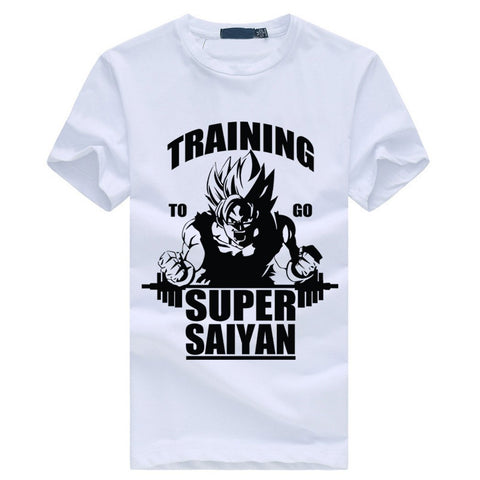 Dragon ball Dragonball capsule new summer kpop style to go Super Saiyan T short-sleeve male casual cotton men's shirt  Z kpop bodybuilding S-3XL AT_85_9