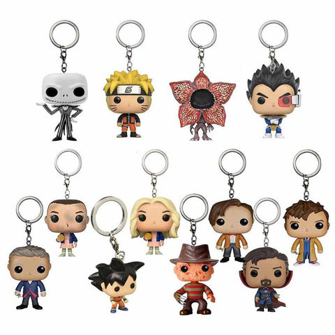 Dr. Who Doctor Who DRAGON BALL Naruto   10th/11th12th Dr.Strange Stranger Things Freddy Krueger Jack Action Figure Anime Gift Toy KeychainDon't blink AT_79_7