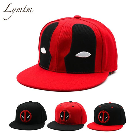 Trendy Winter Jacket [Lymtm] Anime Deadpool Embroidery Hip Hop Snapback Hat Cotton Casual Flat Baseball Cap For Men Women Gorras Casual Bone AT_92_12