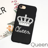 Trendy Matte Soft Phone Case for iPhone 6 Case for iPhones 5s 5 6s Cover KING Queen TPU Slim Silicone Case for iPhone 7 8 Plus Coque AT_94_13