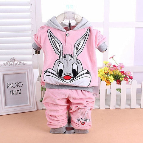 c079b11a1 ... Baby Boys Girls Hello Kitty Clothing Sets Kids Velvet Suits Infant  Tracksuits Sports Outerwear Cartoon Hoodies