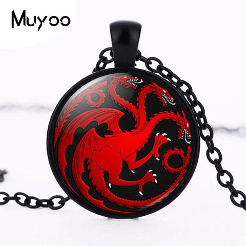 Winter Game of Thrones GOT 2017 new hot 2015 Vintage  Fashion Necklace House Targaryen Joyeria Fire and Blood Bijuterias Best Friend HZ1 AT_77_7