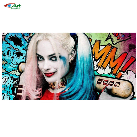 AZQSD Harley Quinn - Suicide Squad Diamond Embroidery Home Decor Full Square Diamond Mosaic Painting Cross Stitch Kits BB2500 - Animetee