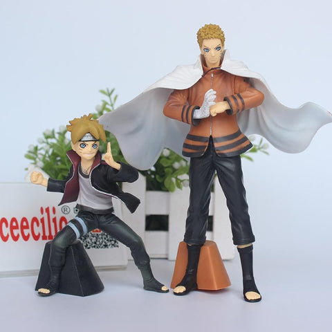 Naruto Sasauke ninja 2pcs/set Anime BORUTO  & Uzumaki Boruto pvc Action Figure  Model Toys AT_81_8
