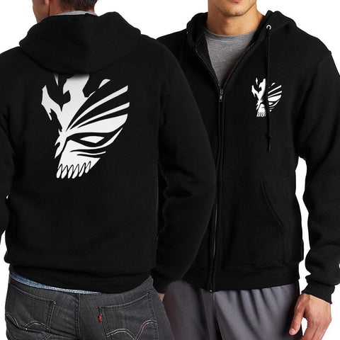 Hot 2017 Anime/BLEACH Kurosaki Ichigo/SAO/Little Demon Eyes/ Zip Up Hoodies Men's Sportswear Sweatshirts Top Kpop HoodiesKawaii Pokemon go  AT_89_9