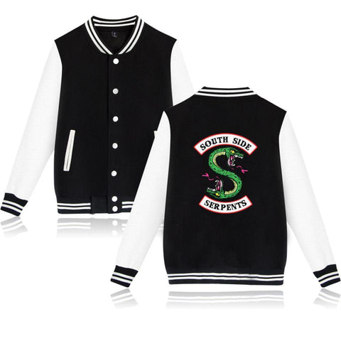 Trendy BTS Winter Jacket American TV Riverdale Women Fashion Jacket South Side Mens Female Fans Casual Baseball Jacket XXS-4XL Clothes AT_94_13