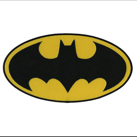 Batman Dark Knight DC Comics Movie Classic Bat Logo Iron On Applique Morale Patch - Animetee