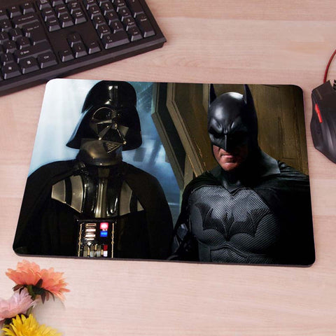 Darth Vadar meets Batman for diplomacy  Mouse Pad Non-Skid Rubber Pad 220mmX180mmX2mm and 250mmx290mmx2mm hwd 80's - Animetee