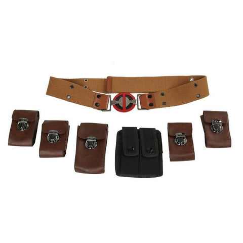 Deadpool Dead pool Taco Takerlama  Belt Full Set Buckle Pouches Costume Ryan Reynolds Halloween Cospaly Props S M L XL AT_70_6