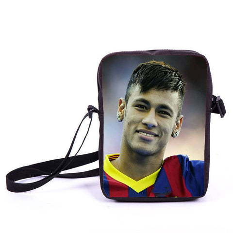 Brazil Brasil Football Soccer olympics Messi Neymar Suarez messenger bag book school teen adult unisex college laptop - Animetee - 7