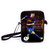 Brazil Brasil Football Soccer olympics Messi Neymar Suarez messenger bag book school teen adult unisex college laptop - Animetee - 5